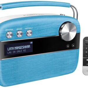 100% Original Saregama Carvaan Hindi 5000 Songs Portable Digital Music Player with Remote (Electric Blue)-0