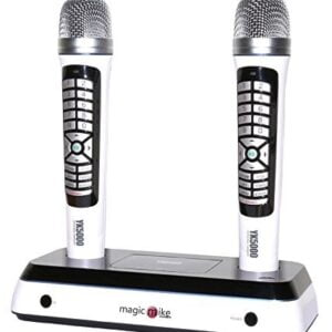 Kortek Magic Mike YK-5000 pro Dual Wireless Karaoke Microphone with 5500+ Songs-0