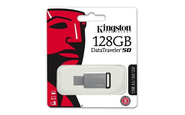 Kingston DataTraveler 50 128GB USB 3.0 Flash Drive-0
