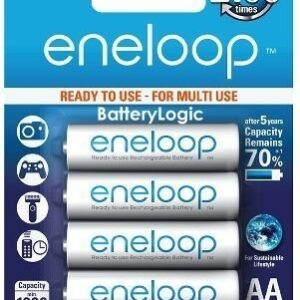 Panasonic BK-3MCCE/4BN 2000mah eneloop AA 2100 Times Rechargeable Ni-MH Pre-Charged Rechargeable Batteries, 4 Pack-0