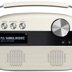 100% Original Saregama Carvaan Tamil 5000 Songs Portable Digital Music Player (Porcelain White)-0