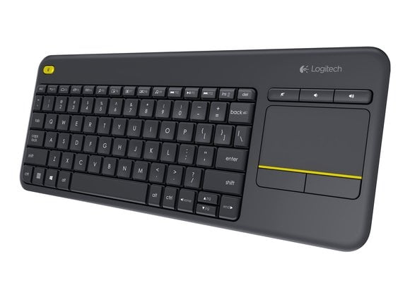 Logitech K400 Plus Wireless Keyboard (Black) Works with Windows® 7, Windows 8, Windows 10 or later Android™ 5.0 or later Chrome OS™-0