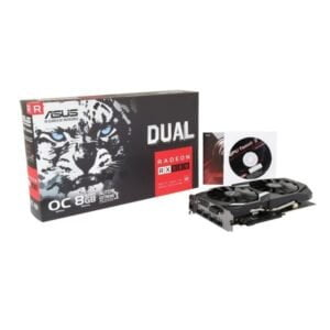 ASUS Radeon RX 580 8GB Dual-fan OC Edition GDDR5 DP HDMI DVI VR Ready AMD Graphics Card (DUAL-RX580-O8G)-0