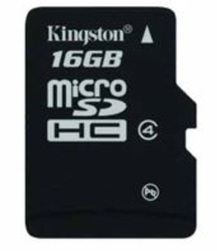 Kingston 16GB Class 4 Micro SDHC Memory Card-0