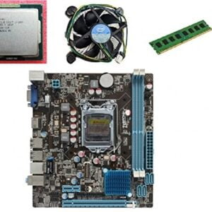 KharidiyeBasic Zebronics Board H61 Chipset Motherboard with 2 Years Warranty,Intel Core I3-2100 Processor with 8 GB DDR3 RAM CPU Fan-0