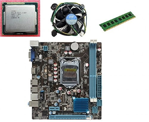 KharidiyeBasic Zebronics Motherboard Combo H61 Chipset Motherboard with Intel Core I5-3rd Gen Processor with 8 GB DDR3 RAM Intel Fan-0