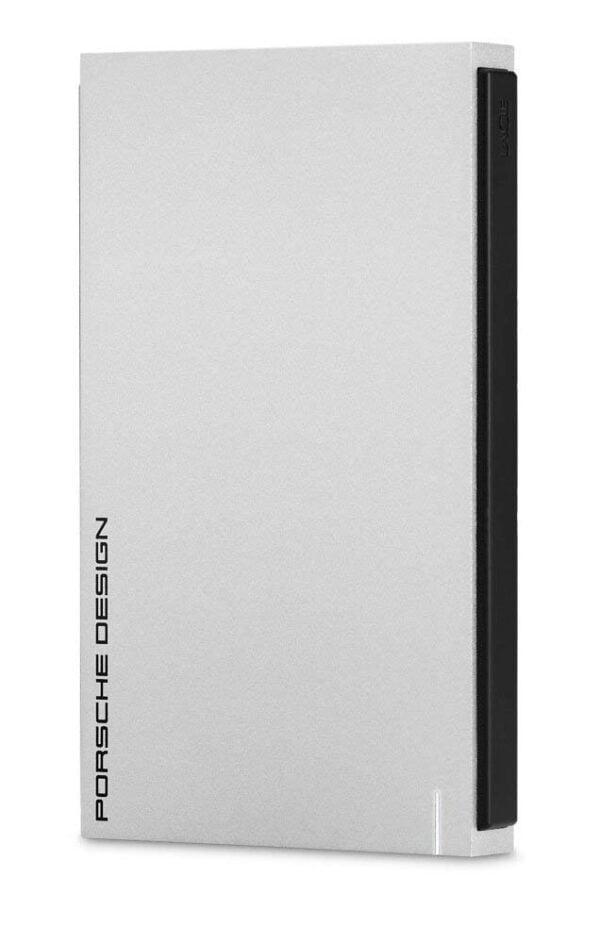 Lacie 2TB Porsche Design USB 3.0 Portable 2.5 inch External Hard Drive for PC and Mac - Light Grey-0