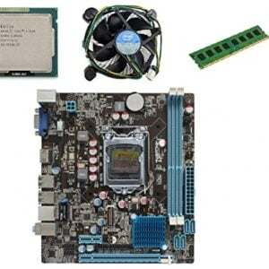 KharidiyeBasic Zebronics Board H61 Chipset Motherboard with 2 Years Warranty,Intel Core I3-3220 Processor with 6 GB DDR3 RAM CPU Fan-0