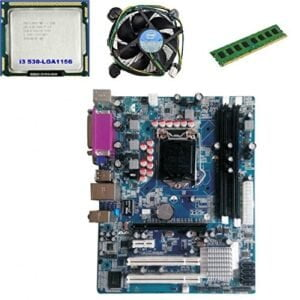 KharidiyeBasic Zebronics Board H55 Chipset Motherboard with 2 Years Warranty,Intel Core I3-530 Processor with 6 GB DDR3 RAM CPU Fan-0