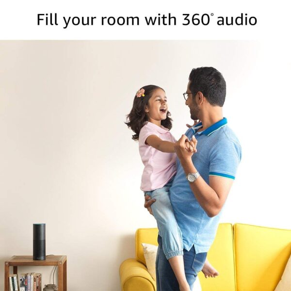 Echo Plus with built in smart home hub - Voice control your music, Make calls, Get news, weather & more, Powered by Dolby - Black-5391