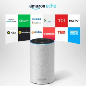 Amazon Echo - Voice control your music, Make calls, Get news, weather & more, Powered by Dolby – White-0