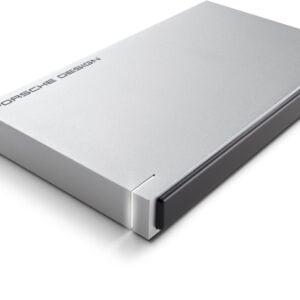 Lacie 1TB Porsche Design USB 3.0 Portable 2.5 inch External Hard Drive for PC and Mac - Light Grey-0