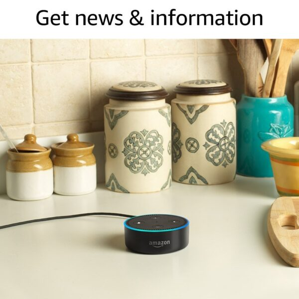 Echo Dot - Voice control your music, Make calls, Get news, weather & more - Black 2nd Generation-5375