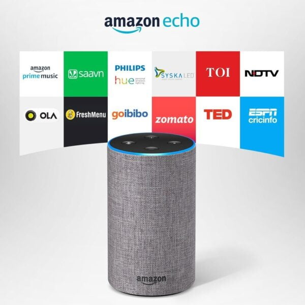 Amazon Echo - Voice control your music, Make calls, Get news, weather & more, Powered by Dolby – Grey-0