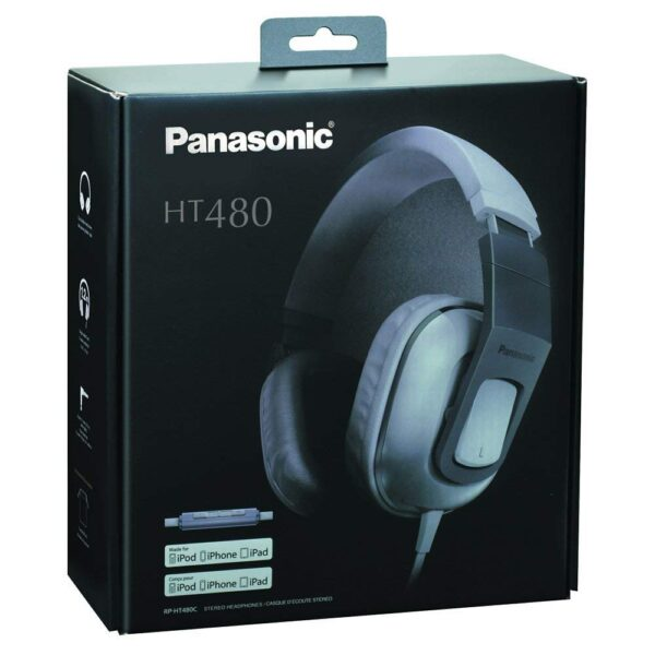 Panasonic RP-HT480CPPW Stereo Headphones Headset With Remote Mic - White-5192