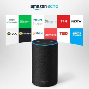 Amazon Echo - Voice control your music, Make calls, Get news, weather & more, Powered by Dolby – Black-0