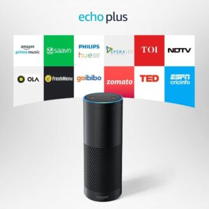 Echo Plus with built in smart home hub - Voice control your music, Make calls, Get news, weather & more, Powered by Dolby - Black-0