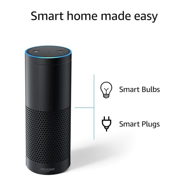 Echo Plus with built in smart home hub - Voice control your music, Make calls, Get news, weather & more, Powered by Dolby - Black-5389