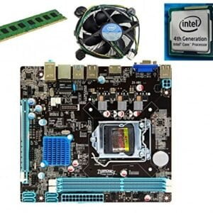 KharidiyeBasic Zebronics Board H81 Chipset Motherboard with 2 Years Warranty,Intel Core I3-4130 Processor with 4 GB DDR3 RAM CPU Fan-0