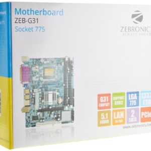 Zebronics Motherboard ZEB-G31 Now G41 D2 Socket 775+Zebronics Cpu Cooling Fan+Intel Core 2 Duo E7500 Processor 2.93 GHz 3 MB Cache+2GB DDR2 Desktop Ram-0