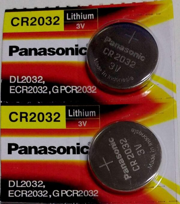 Panasonic CR2032 3V Coin Cell Batteries (Silver) - Pack of 2-0