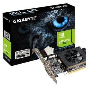 Gigabyte GeForce GT-710 DDR5 2GB PCI-Express Graphics Card (Black) (DDR5 Supports DDR3)-0