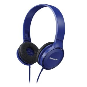 Panasonic On Ear Stereo Headphones RP-HF100-A with Travel-Fold Design, Matte Finish, Blue-0