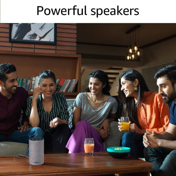Amazon Echo - Voice control your music, Make calls, Get news, weather & more, Powered by Dolby – Grey-5425