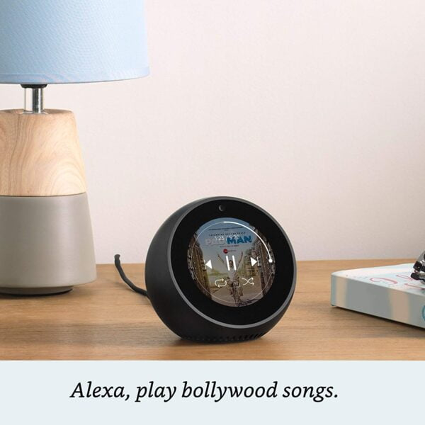Amazon Echo Spot - Stylish echo with a screen, Make video calls, Voice control your music, news, weather & more - Black-5436
