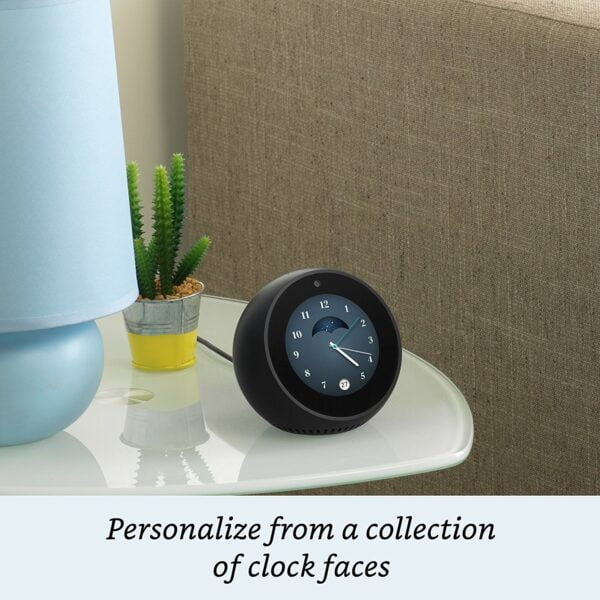 Amazon Echo Spot - Stylish echo with a screen, Make video calls, Voice control your music, news, weather & more - Black-5435