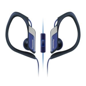Panasonic Sports Clip Earbud Headphones with Mic/Controller RP-HS34M-A (Blue)-0