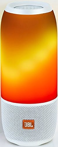 JBL Pulse 3 Wireless Portable Speaker with Vibrant Lightshow (White)-0