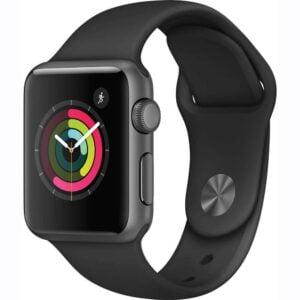 Apple Watch Series 1 38mm Smart Watch (Space Gray Aluminum Case, Black Sport Band)-0