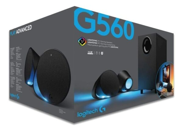 Logitech G560 LIGHTSYNC PC Gaming Speakers with Game Driven RGB Lighting-5621