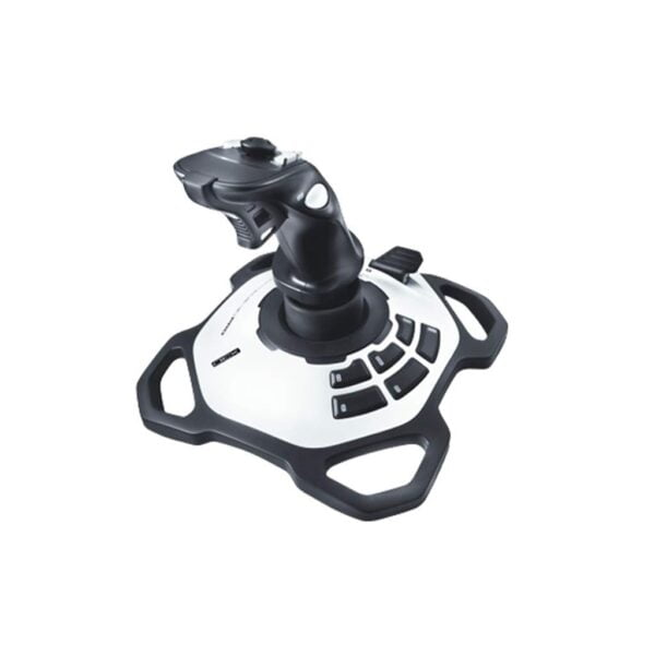 Logitech Extreme 3D Pro Gaming Joystick (White/Black) 3 Years Warranty From Logitech Service Centre-0