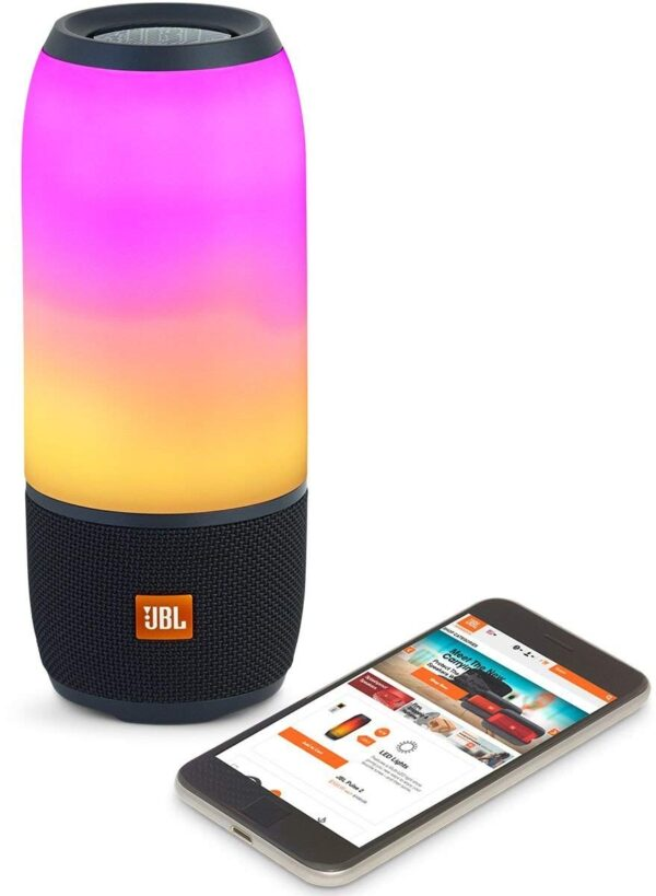 JBL Pulse 3 Wireless Portable Speaker with Vibrant Lightshow (Black)-5790