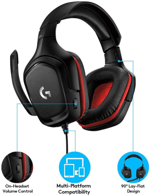 Logitech Prodigy G331 Gaming Headphones with Mic (Black) Upgraded Model of G231-8567