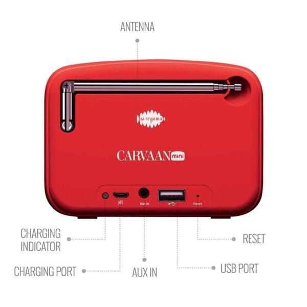 100% Original Saregama Carvaan SCM02 Mini 2.0 Bluetooth Speaker (Sunset Red)-5761