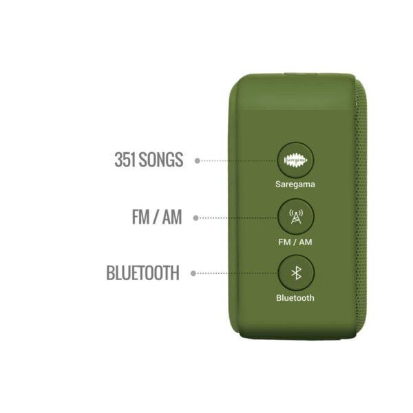 100% Original Saregama Carvaan SCM02 Mini 2.0 Bluetooth Speaker (Sapphire Green)-5782