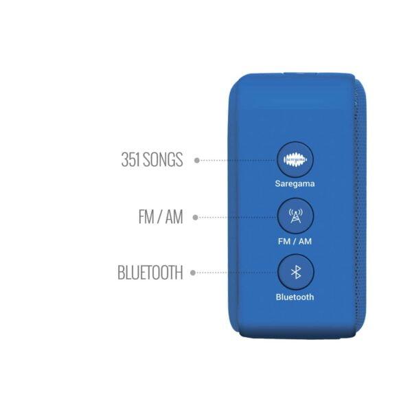 100% Original Saregama Carvaan Mini SCM02 2.0 Bluetooth Speaker (Blue)-5775
