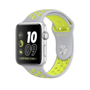 Apple Watch Nike+ 42mm Smart Watch (Silver Aluminum Case Silver, Volt Nike Sport Band)-0