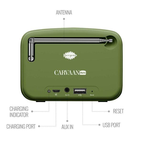 100% Original Saregama Carvaan SCM02 Mini 2.0 Bluetooth Speaker (Sapphire Green)-5783