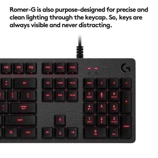 Logitech G413 Backlit Mechanical Gaming Keyboard with USB Pass-Through (Carbon)-5536