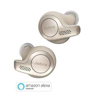 Jabra Elite 65t Alexa Enabled True Wireless Earbuds with Charging Case (Gold Beige)-0