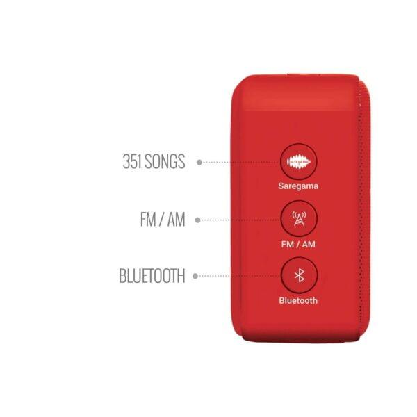 100% Original Saregama Carvaan SCM02 Mini 2.0 Bluetooth Speaker (Sunset Red)-5758