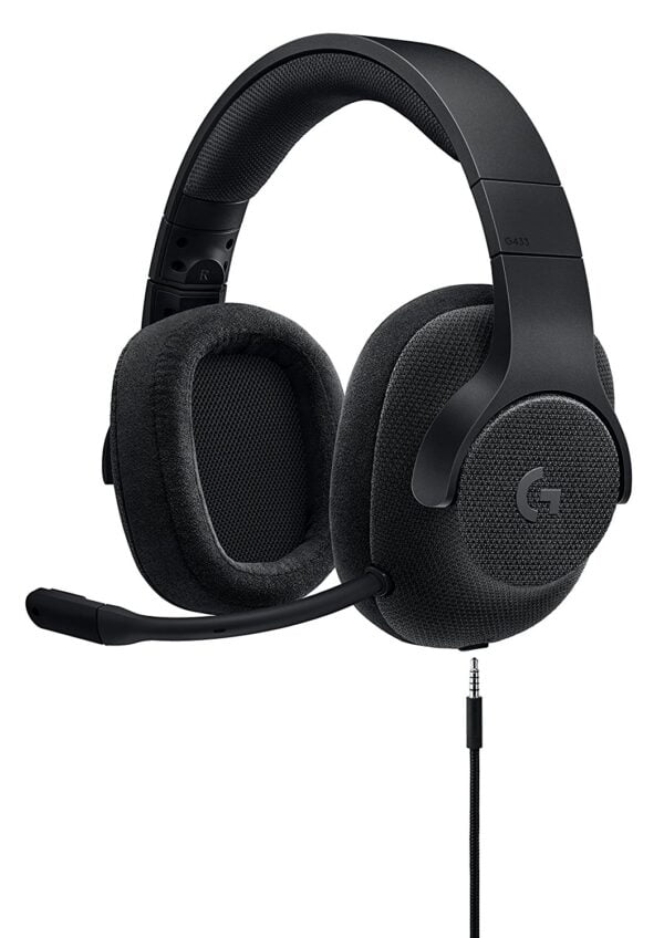 Logitech G433 7.1 Surround Sound Gaming Headset (Black)-0
