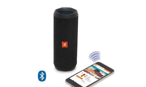 JBL Flip 4 Portable Wireless Speaker with Powerful Bass & Mic (Black)-5855