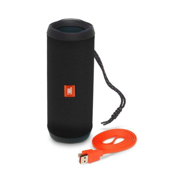 JBL Flip 4 Portable Wireless Speaker with Powerful Bass & Mic (Black)-5858