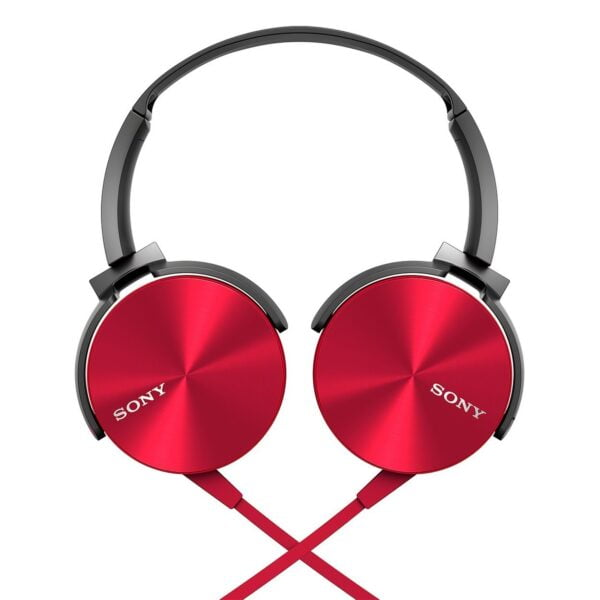 Sony MDR-XB450AP On-Ear EXTRA BASS Headphones with Mic (Red)-5909