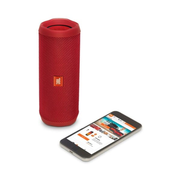 JBL Flip 4 Portable Wireless Speaker with Powerful Bass & Mic (Red)-5853
